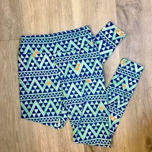 Blue and Orange LulaRoe Pants - NWOT